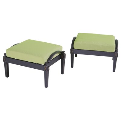 Portsmouth Club Ottoman with Cushion Fabric: Ginkgo Green
