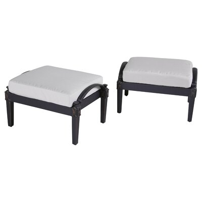 Portsmouth Club Ottoman with Cushion Fabric: Moroccan Cream