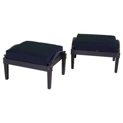 Portsmouth Club Ottoman with Cushion Fabric: Navy