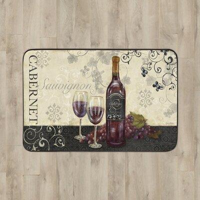 Larson Glasses of Wine Kitchen Mat