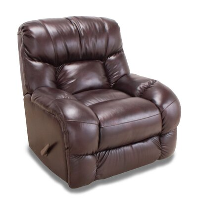 Bulfinch Leather Rocker Recliner Color: Chocolate