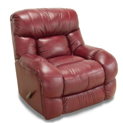 Bulfinch Leather Rocker Recliner Color: Paprika