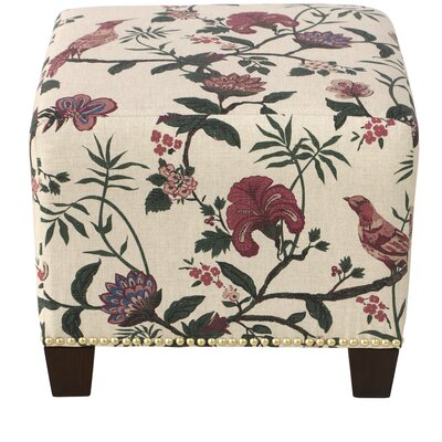 Essex Square Nail Button Ottoman