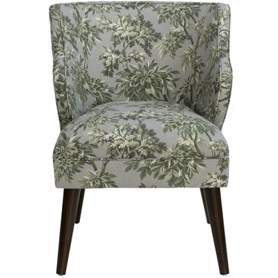Tobar Wingback Chair Upholstery: Sylvan Toile Greystone