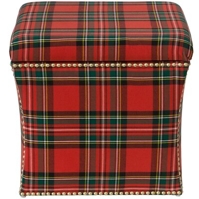 Silverado Storage Ottoman Color: Ancient Stewart Red