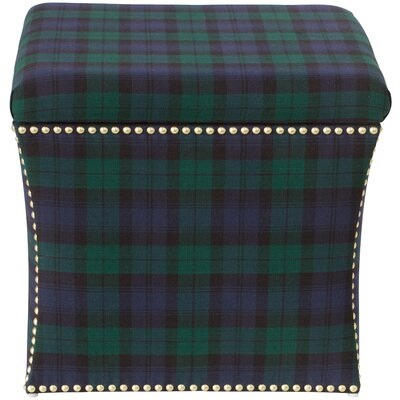 Silverado Nail Button Storage Ottoman Color: Blackwatch