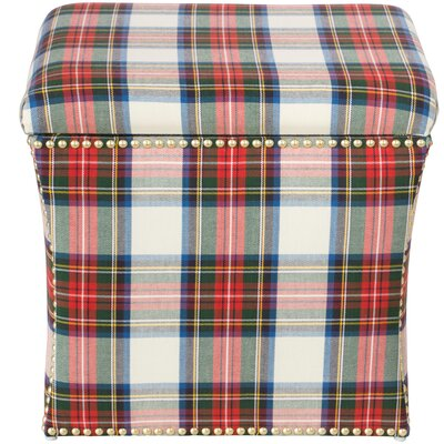 Silverado Nail Button Storage Ottoman Color: Stewart Dress Multi