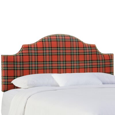 Tilson Upholstered Panel Headboard Size: King, Color: Ancient Stewart Red