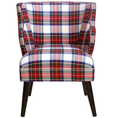 Tobar Wingback Chair Upholstery: Stewart Dress Multi