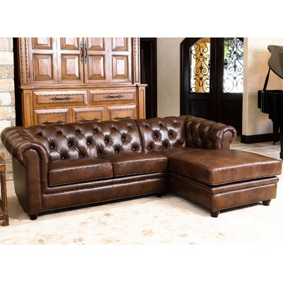Darby Home Co DBHC7587 28099166 Lapointe Leather Chaise Sectional