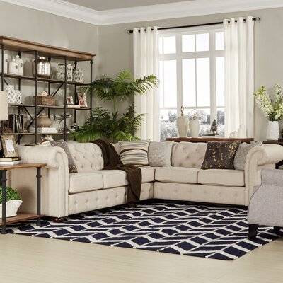 Darby Home Co DRBC1208 30329084 Kaminsky Sectional Upholstery