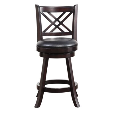 Emilie 24 Swivel Bar Stool Finish: Merlot