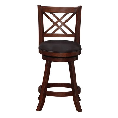 Emilie 24 Swivel Bar Stool Finish: Hazelnut