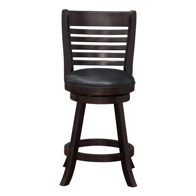 Starkville 24 inch Swivel Bar Stool Finish: Merlot