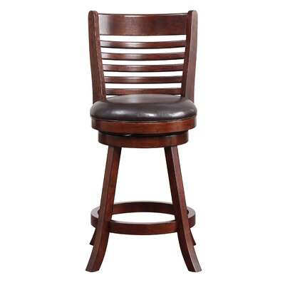 Starkville 24 Swivel Bar Stool Finish: Hazelnut