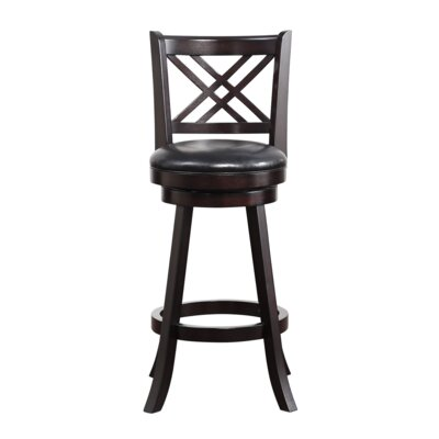 Emilie 29 Swivel Bar Stool Finish: Merlot