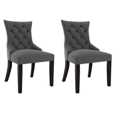 Dumbarton Side Chair Upholstery: Dark Gray