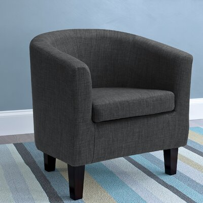 Dumbarton Barrel Chair Upholstery: Dark Gray Fabric