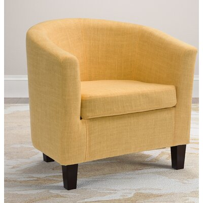 Dumbarton Barrel Chair Upholstery: Yellow Fabric