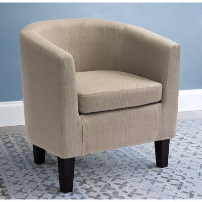 Dumbarton Barrel Chair Upholstery: Beige Fabric