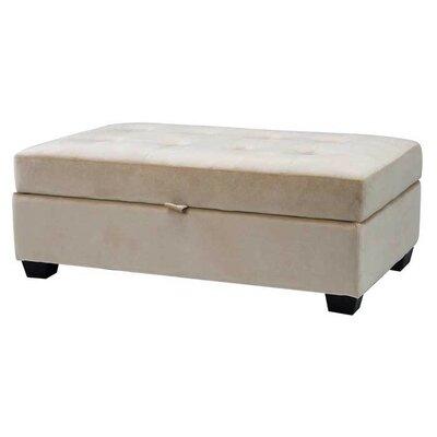 Dumbarton Storage Ottoman Upholstery: Cream Velvet