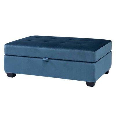 Dumbarton Storage Ottoman Upholstery: Blue Velvet