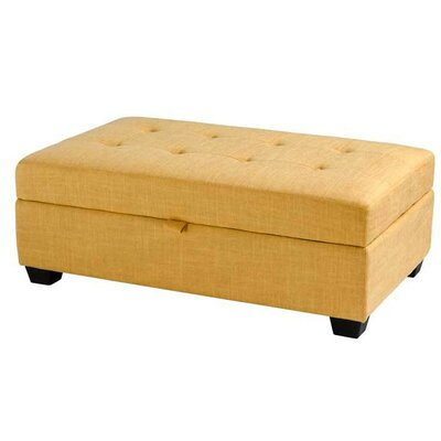 Dumbarton Storage Ottoman Upholstery: Yellow Fabric