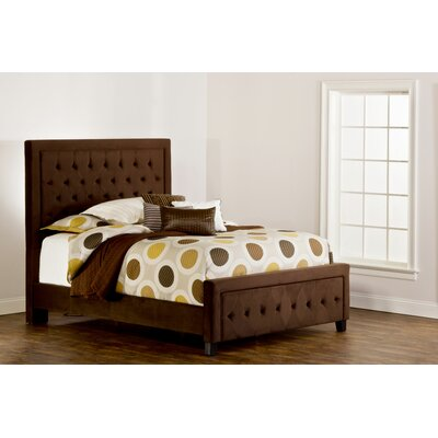 Tux Traditional Upholstered Panel Bed Size: Queen, Upholstery: Pewter