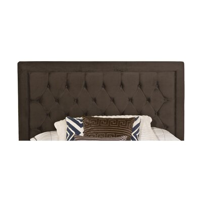 Elnora Upholstered Panel Headboard Size: Queen, Finish: Pewter