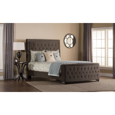 Bettyann Upholstered Panel Bed with Rails Size: Queen, Color: Pewter