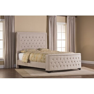 Bettyann Upholstered Panel Bed with Rails Size: Queen, Color: Buckwheat