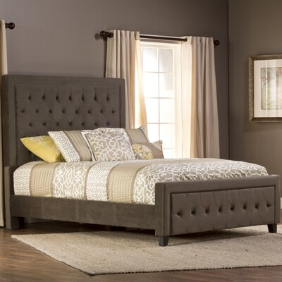 Bettyann California king Upholstered Panel Bed Color: Pewter
