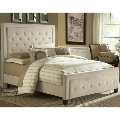 Tux King-Sized Upholstered Panel Bed Upholstery: Buckwheat