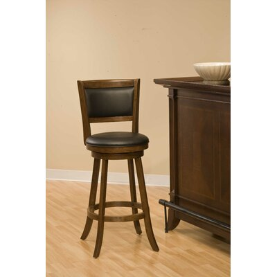 Marland 24 inch Swivel Bar Stool Frame Finish: Cherry