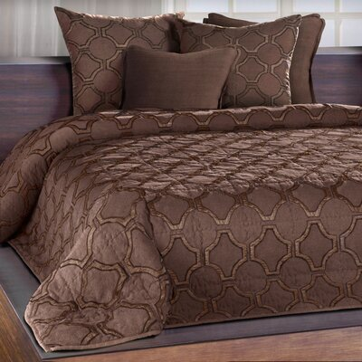 Cheswick Silk Applique Quilt Color: Espresso, Size: Queen