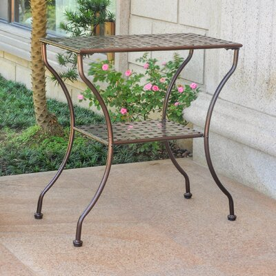 Doric Iron 2-Tier Patio Table Finish: Hammered Bronze