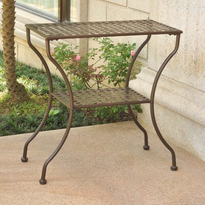 Doric Iron 2-Tier Patio Table Finish: Matte Brown