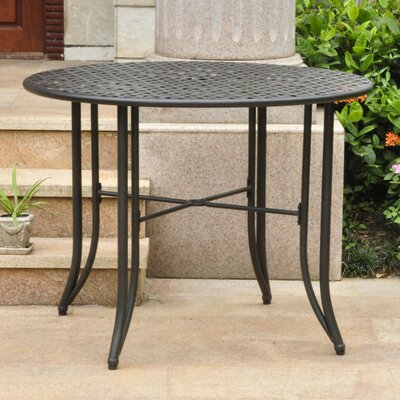 Doric Iron 39 Round Patio Dining Table Finish: Black