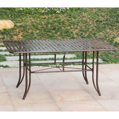 Doric Dining Table Finish: Hammered Bronze