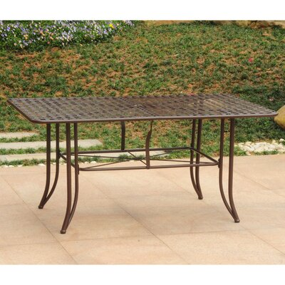 Doric Dining Table Finish: Matte Brown