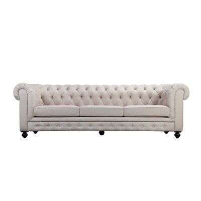 Dolores Chesterfield Sofa Upholstery: Beige