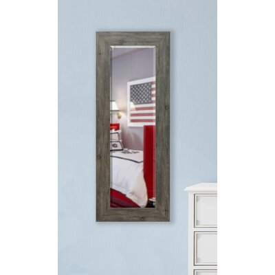 Grey Barnwood Rectangle Wall Mirror Size: 21 x 60