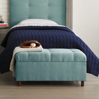 Nelson Tufted Upholstered  Microdenier Storage Ottoman Finish: Azure