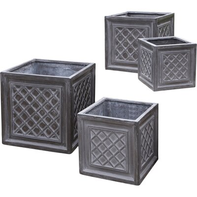 Valenzano 4-Piece Composite Planter Box Set