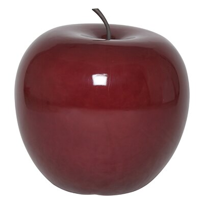 Red Apple Statue Size: 13.1 x 13.1 x 13.7