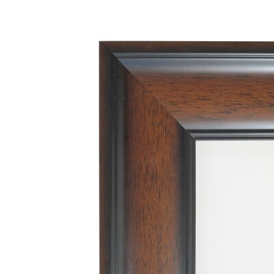 Halcott Rectangle Dark Walnut Wall Mirror
