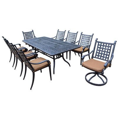 Image of Vandyne 9 Piece Dining Set with Cushions
