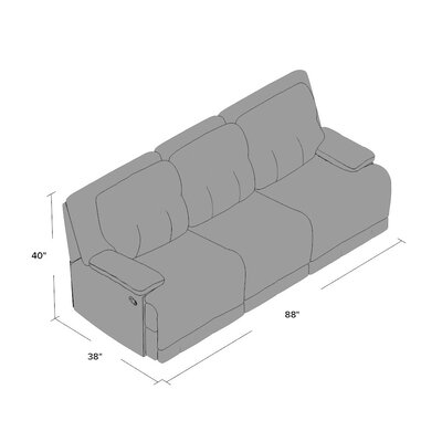 Golston Reclining Sofa Upholstery: Burgundy