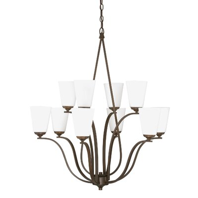 Whalers 10-Light Shaded Chandelier Finish: Burnished Bronze
