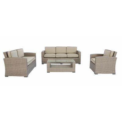 Candor 4 Piece Deep Seating Group with Cushions